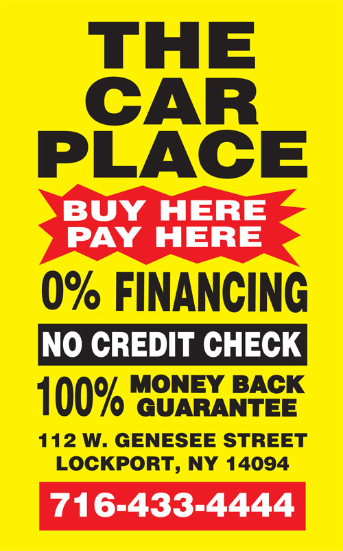 buy here pay here the car place